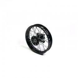 """Roue arrière """"10"""" noir acier 12 mm"""