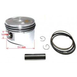 Kit Piston+Jeu de segments 54mm 138cc Lifan