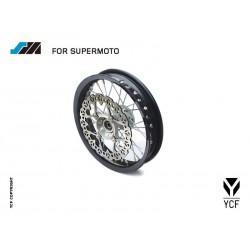 ROUE SUPERMOTO ALU, 7116 M - 2,15X12 AVANT (INCLUS DISQUE DE FREIN)