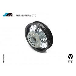 ROUE SUPERMOTO ALU, 7116 M - 2,50X12 ARRIERE (INCLUS DISQUE DE FREIN & COURONNE)