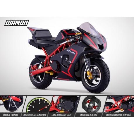 pocket moto 49cc piste